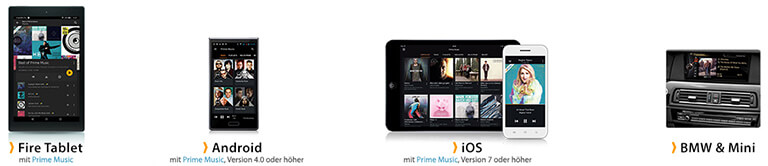 Apps von Amazon Prime Music